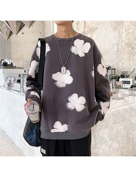 Puani   Flower Print Round Neck Pullover by Puani