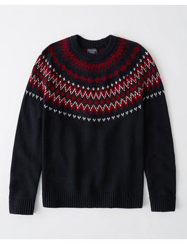 Fair Isle Crew Neck Sweater by Abercrombie & Fitch