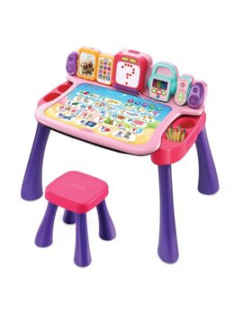 V Tech Explore & Write Activity Desk Transforms Into Easel & Chalkboard   Pink by V Tech