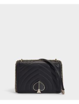Amelia Medium Black Leather Shoulder Bag by Kate Spade