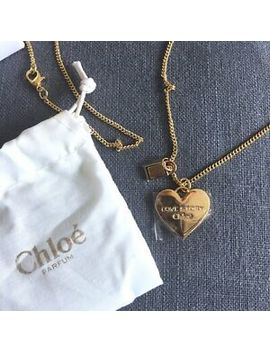 "Rare & New Chloe Perfume ""Love Story"" Heart Charms Necklace New With Pouch Box by Chloe"