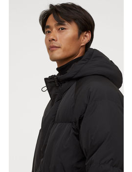 Long Hooded Down Jacket by H&M