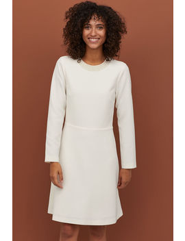 Dress With Pearlescent Beads by H&M