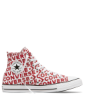Chuck Taylor All Star Wordmark High Top White by Converse