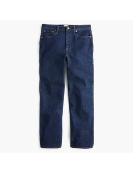 Petite Straight Leg Crop Jean In Rinse Wash by J.Crew