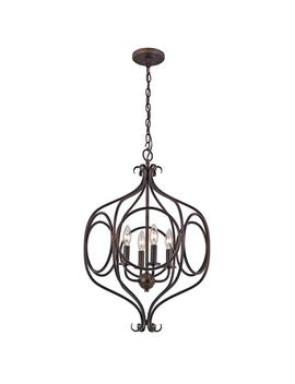 Casitas 4 Light Rubbed Oil Bronze Pendant by Home Depot