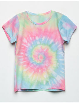 Full Tilt Tie Dye Oversize Rainbow Girls Tee by Full Tilt