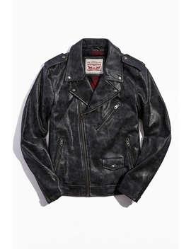 Levi's Vintage Faux Leather Moto Jacket by Levi's
