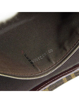 Fendi Zucca Mamma Baguette Hand Bag Purse Brown Canvas Leather Vintage Nr13860 by Fendi