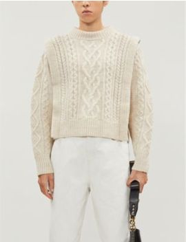 Tayle Cropped Cable Knit Wool Jumper by Isabel Marant Etoile