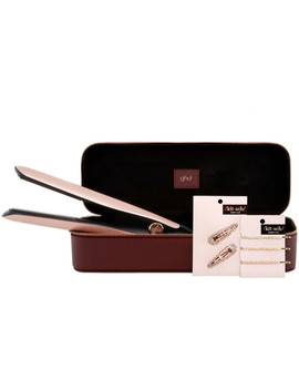 Rose Gold Styler Set With Leather Case And Kitsch Hair Accessories by Ghd