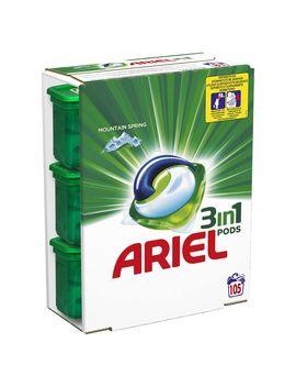 Detergent Capsule Ariel, 3in1 Pods Mountain Spring, 3x35 Buc, 105 Spalari by Ariel