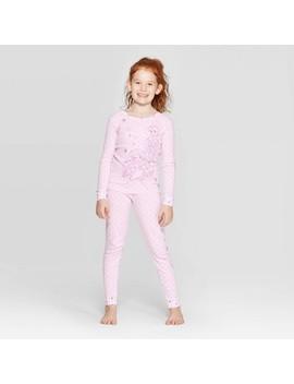 Girls' Disney Princess 2pc Pajama Set   Pink by Disney Princess