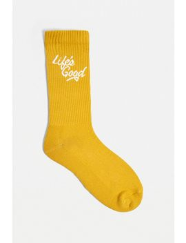 Uo Life's Good Mustard Socks 1 Pack by Urban Outfitters