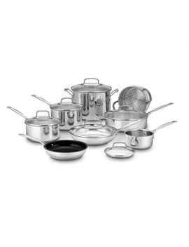 Cuisinart Chef's Classic Stainless Steel 14 Piece Cookware Set (77 14) by Cuisinart