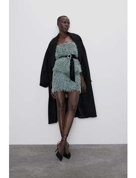 Feathered Mini Skirt by Zara