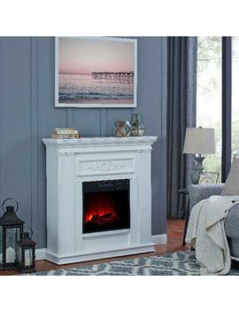 Bold Flame 38 Inch Wall Corner Electric Fireplace Heater Modern White Shaker New by Bold Flame