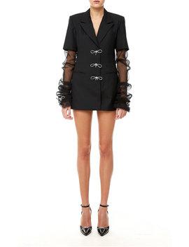 Crystal Bow Blazer Dress by Mach & Mach