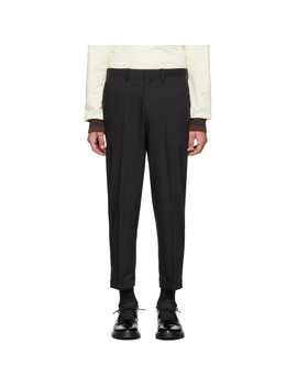 Black Cropped Trousers by N.Hoolywood