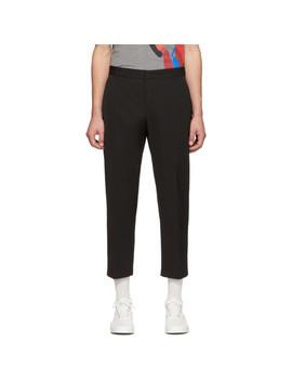 Black Cropped Trousers by Maison KitsunÉ