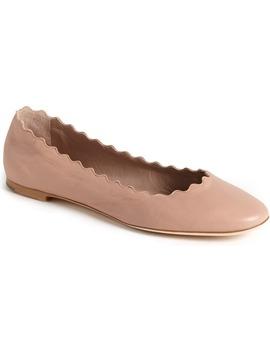 'lauren' Scalloped Ballet Flat by ChloÉ
