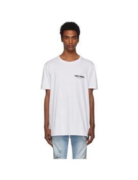 White 'pool Side Wifi' T Shirt by Double Rainbouu