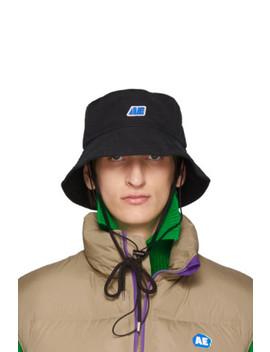 Black Ae Logo Bucket Hat by Ader Error