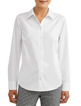 Time And Tru Women's Classic Career Shirt by Time And Tru