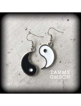 Yin Yang Earrings, Chakra Earrings, Zen Jewelry, Tunnel Earrings, Yoga Earrings, Plug Earrings, Meditation Jewelry, Meditation Earrings by Etsy