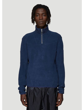 Panelled Zip Up Sweatshirt In Navy by Gmb H