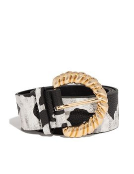 Second Skin Belt   Black/White by Miss Lola