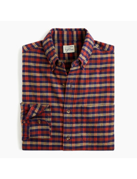 Slim Brushed Twill Shirt In Vintage Plaid by J.Crew