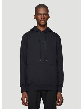 Logo Print Hooded Sweatshirt In Black by 1017 Alyx 9 Sm