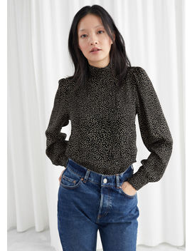 Mini Square Print Satin Blouse by & Other Stories