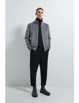 Wool Effect Bomber Jacket by Zara