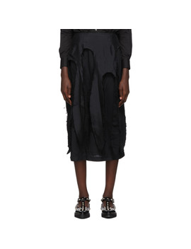 Black Broadcloth Tentacle Skirt by Comme Des GarÇons
