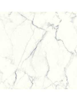 "Martina Carrara Marble 16.5' L X 20.5"" W Abstract Peel And Stick Wallpaper Roll by Mercer41"