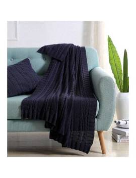 Machias Cable Knit Throw by Three Posts