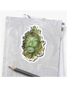 Snoop Dogg Turned Into Weed Funny Sticker Sticker by Lil Unique