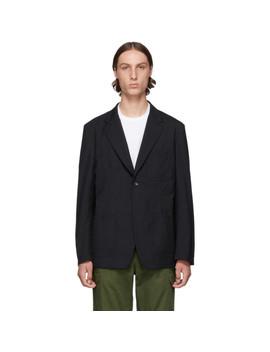 Black Tropical Wool Blazer by Comme Des GarÇons Homme