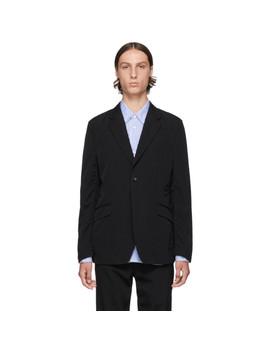 Black Wool Gabardine Blazer by Comme Des GarÇons Homme