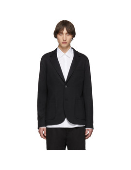 Black Double Faced Jersey Blazer by Lanvin