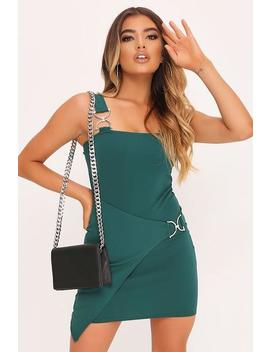 Emerald Buckle Detail Mini Dress by I Saw It First