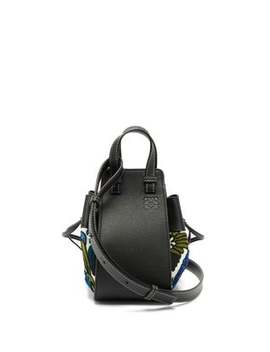 Hammock Mini Floral Embroidered Leather Bag by Loewe