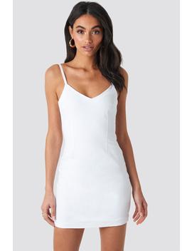 Denim Dress White by Hossxnakd