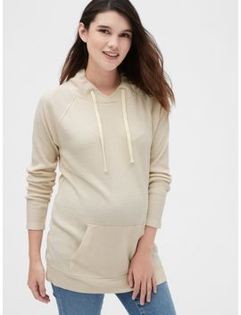 Maternity Softspun Ribbed Funnel Neck Sweater Tunic by Gap