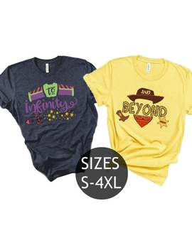 To Infinity And Beyond Shirts, Disney Couples Shirts, Toy Story Custom Matching Shirts, Couple T Shirts, Vacation Shirts, Disneyland Shirts by Etsy