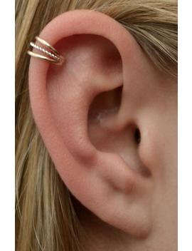 3 Wire   Ear Cuff   Ear Wrap   Cartilage Earring   Silver Ear Cuff   Helix Earring   Non Pierced   Gold Ear Cuff   Fake Piercing   Earcuff by Etsy