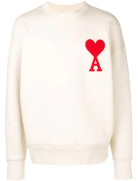 Sweatshirt Med Rund Hals Og Ami De Coeur Mærke by Ami Paris