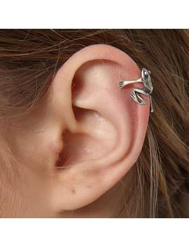 1 Pcs Tree Frog Fake Cartilage Ear Cuff S925 Sterling Silver Non Piercing Ear Clip Cuff Wrap Earrings Fake Ear Nose Cartilage by Etsy